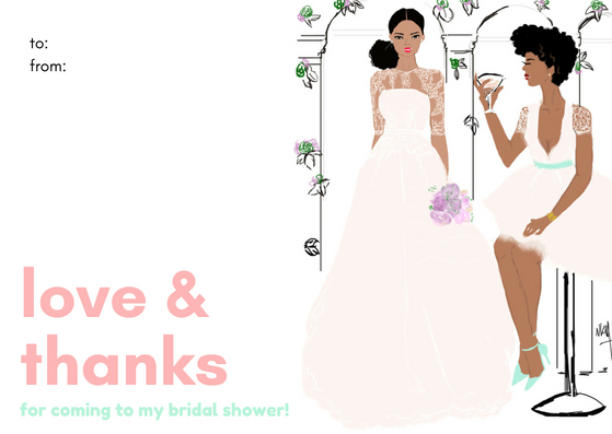 """Bridal Shower Thanks"" 