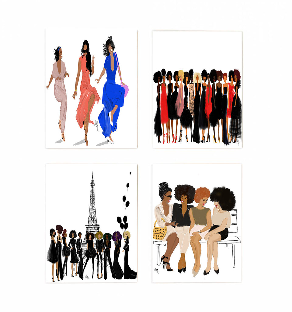 Boxed greeting cards set of 8 girlfriends series nicholle kobi boxed greeting cards set of 8 girlfriends series m4hsunfo