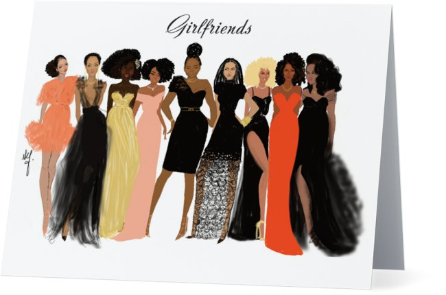 Girlfriends | Greeting Card - Nicholle Kobi