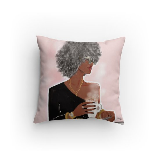 Silver Hair Edition I Accent Square Pillows
