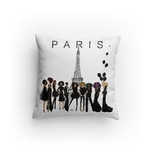 Noire Parisian Edition I Accent Square Pillows