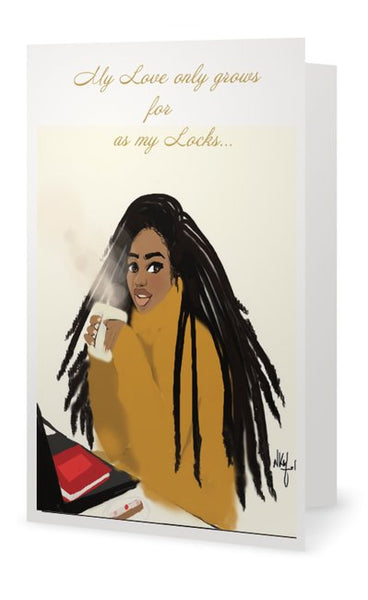 Queen Locks | Greeting Card - Nicholle Kobi