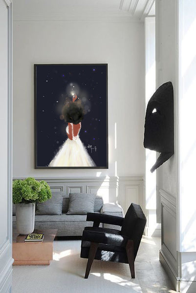 Stars Believe in Your Magic | Art Print - Nicholle Kobi