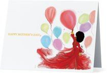 Black Magical Balloons | Greeting Card - Nicholle Kobi