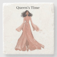 Queen's Time I Stone Mable Coaster