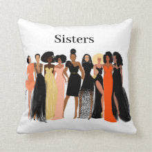 Sister Friends Pillow I Nicholle Kobi
