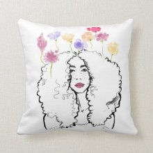 Fleurs I  Accent Square Pillows