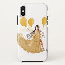 Nicholle Kobi I Phone X Case I Happy Girl