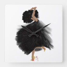 Wall Clock Happy Dancer I Nicholle Kobi