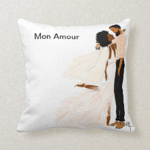 Je T aime I  Accent Square Pillows - Nicholle Kobi