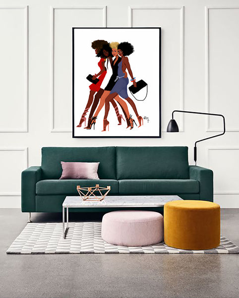 """ Sisters walk together"" 