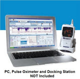 SpectrO2 Logix® Clinical Analysis Software in use with a PC and Pulse Oximeter (not included)