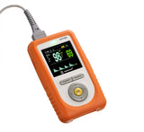 NT1D-A- Handheld Pulse Oximeter with Orange Rubber Cover