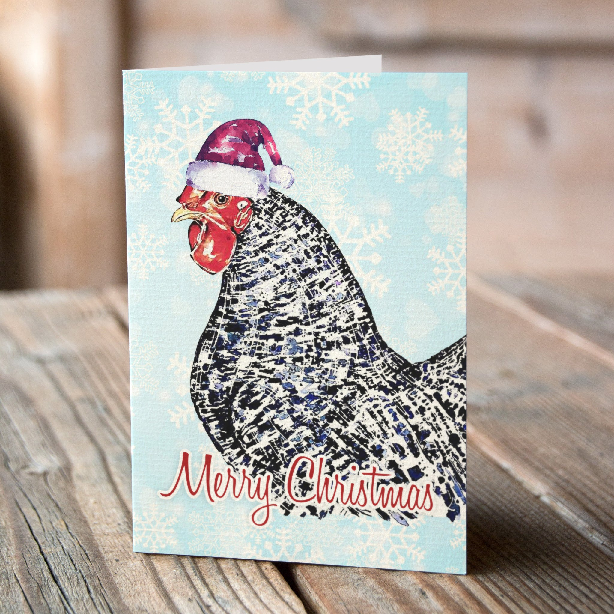 Chicken christmas cards set of 6 eds watercolours chicken christmas cards set of 6 kristyandbryce Gallery