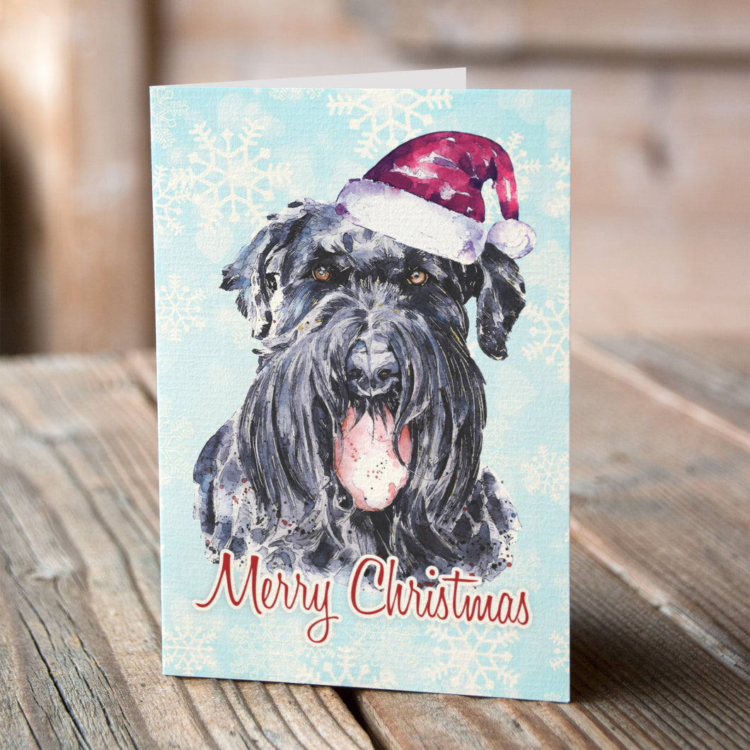 Giant Schnauzer Christmas Cards (Set of 6) – Ed\'s Watercolours