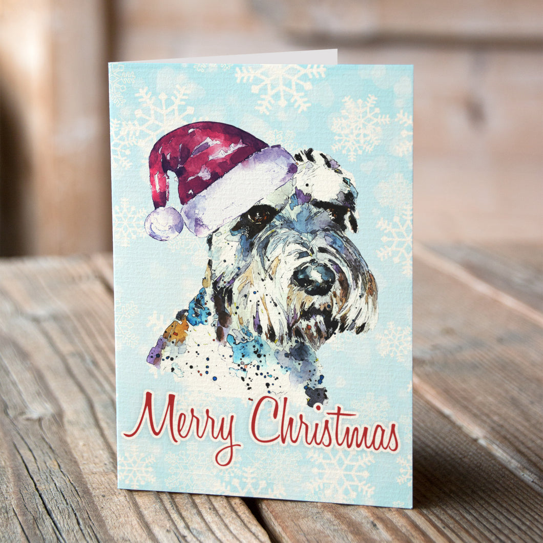 Schnauzer Christmas Cards (Set of 6) – Ed\'s Watercolours