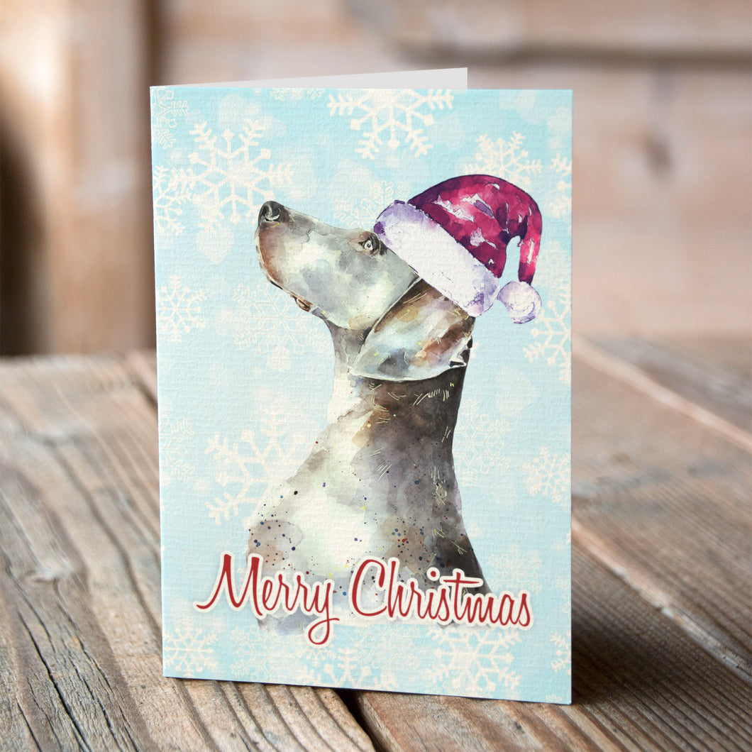Weimaraner Christmas Cards (Set of 6) – Ed\'s Watercolours