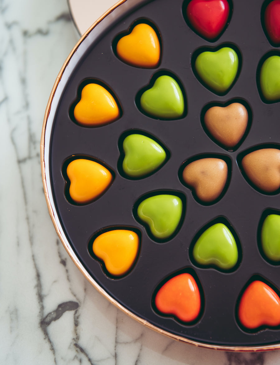 Bliss Flower Boutique - Bliss & Pierre Marcolini - Round Heart Box - [Collection]