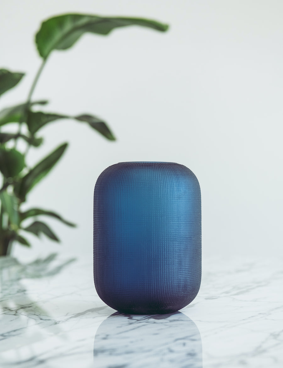 Bliss Flower Boutique - Bliss Glass Vase - Blue - [Collection]