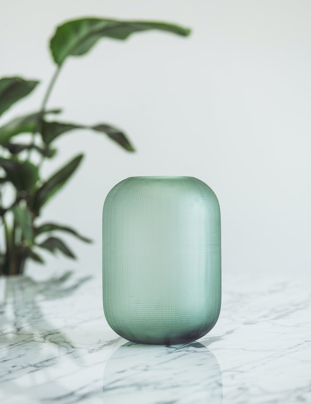 Bliss Flower Boutique - Bliss Glass Vase - Green - [Collection]