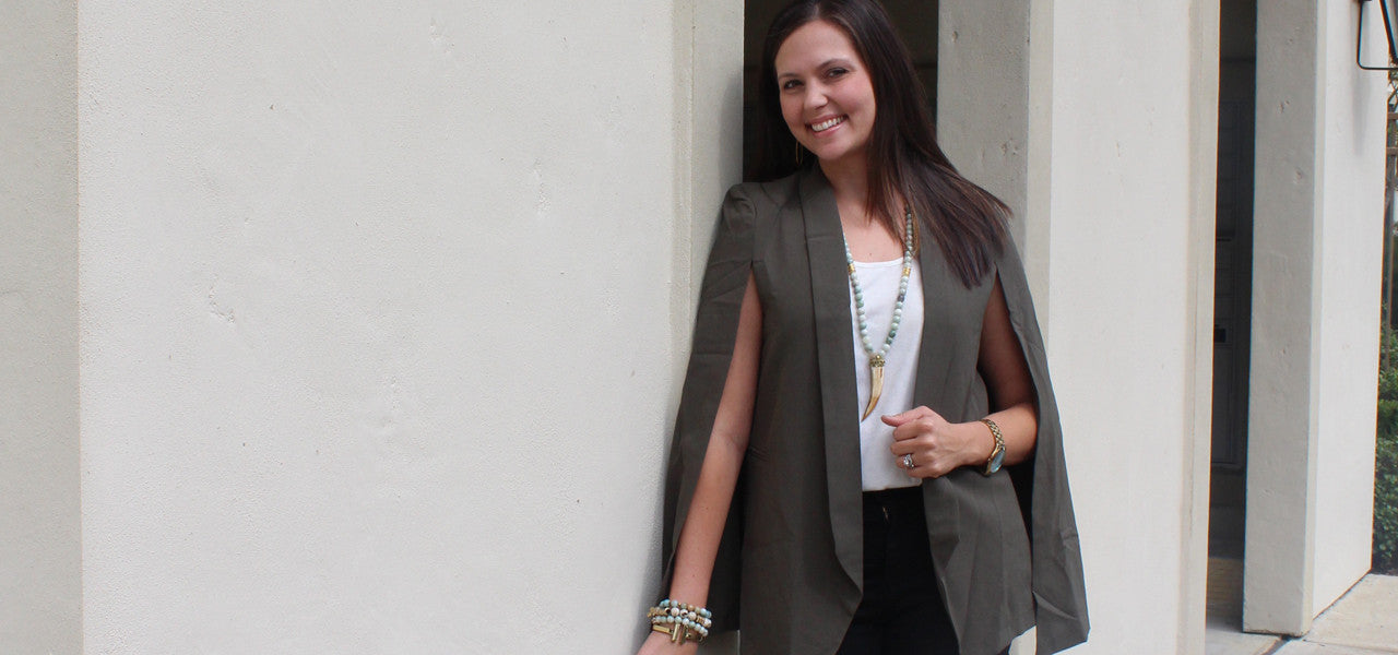 TREND ALERT: Cape Blazer and distressed jeans