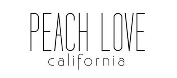 Image result for peach love california logo