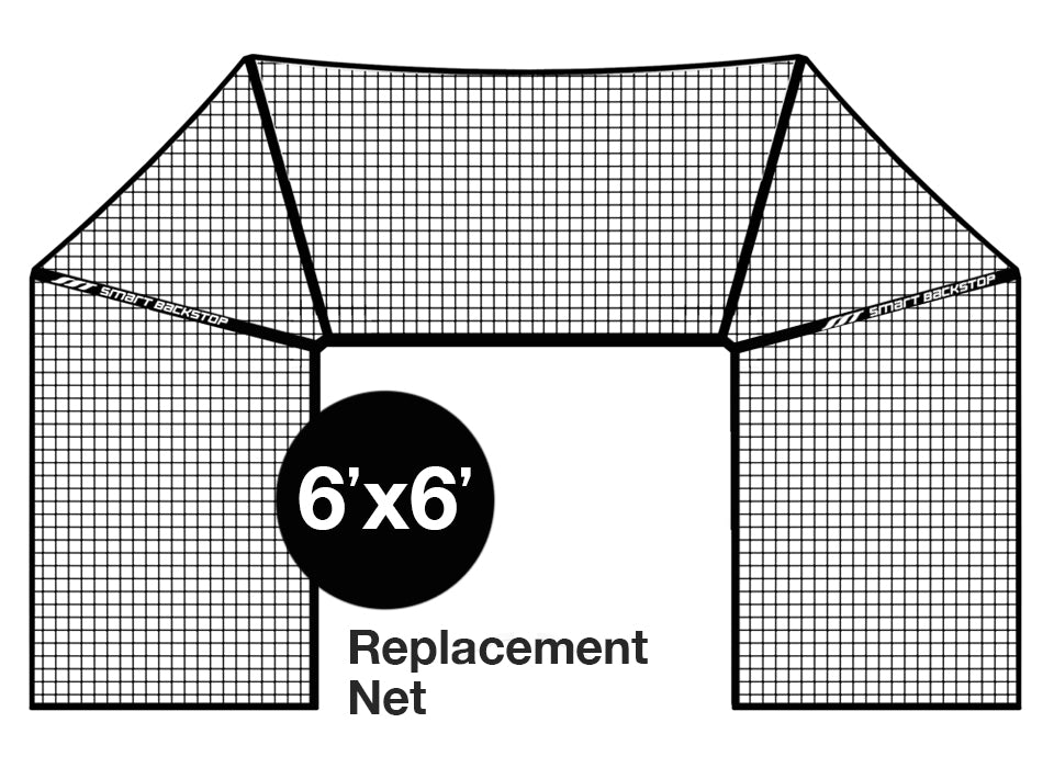 Net, 6' x 6', Black, Smart Backstop for Lacrosse - Smart Backstop for Lacrosse