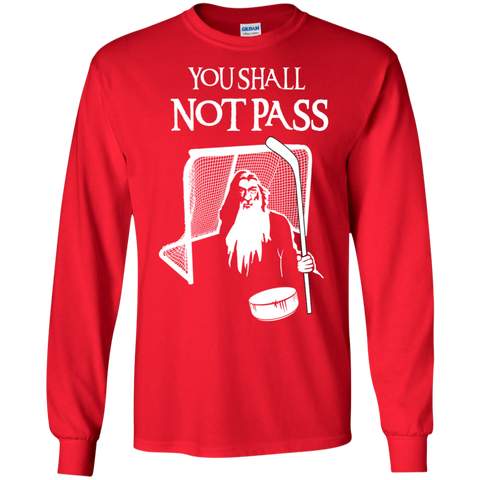 Hockey Gandalf Goalie Cotton Mens Long Sleeve T-shirt