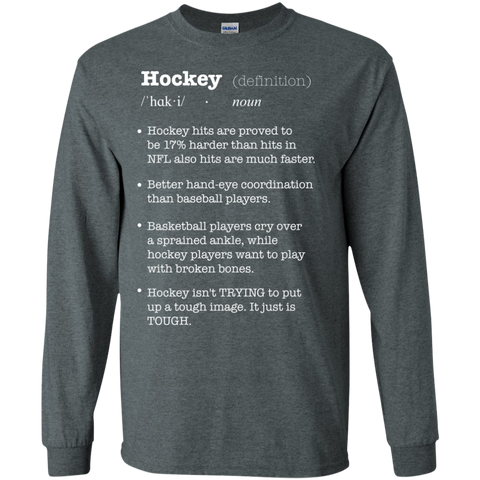 Hockey definition Cotton Mens Long Sleeve T-shirt