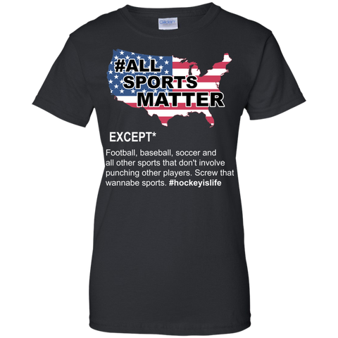 All sports matter Ladies Cotton T-Shirt
