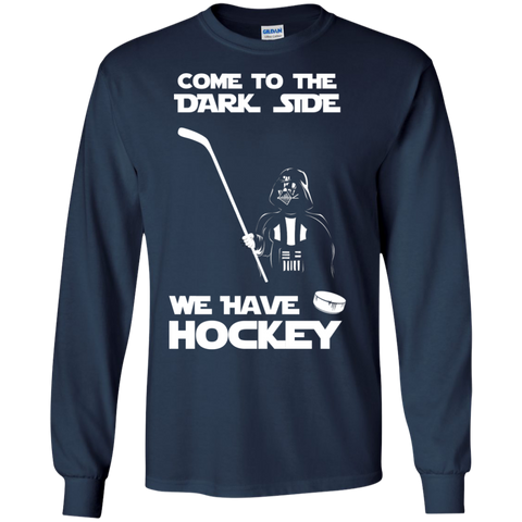 Hockey side Cotton Mens Long Sleeve T-shirt