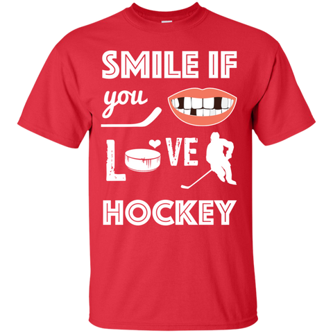 Hockey smile Cotton T-Shirt