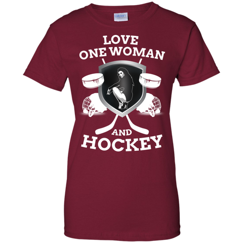 Hockey Love Ladies Cotton T-Shirt