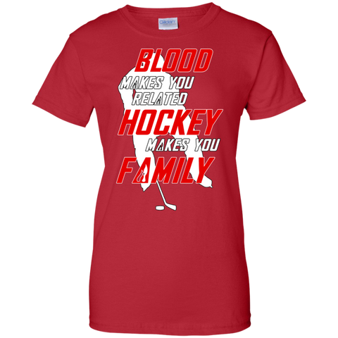 Hockey Family Ladies Cotton T-Shirt