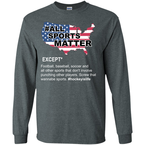 All sports matter Cotton Mens Long Sleeve T-shirt