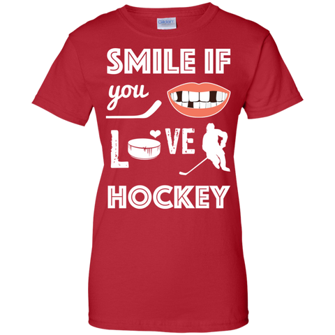 Hockey smile Ladies Cotton T-Shirt