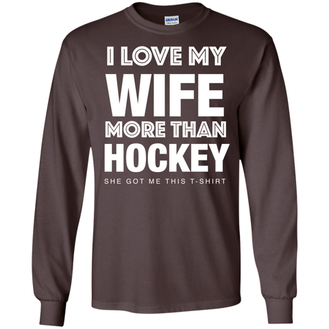 Hockey Wife Cotton Mens Long Sleeve T-shirt