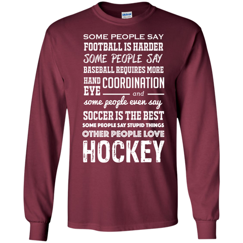 Hockey people Cotton Mens Long Sleeve T-shirt