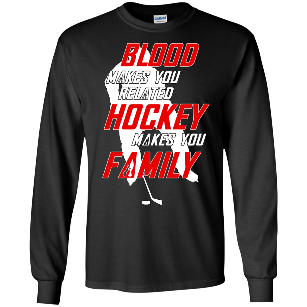 Hockey Family Long Sleeve Cotton T-shirt