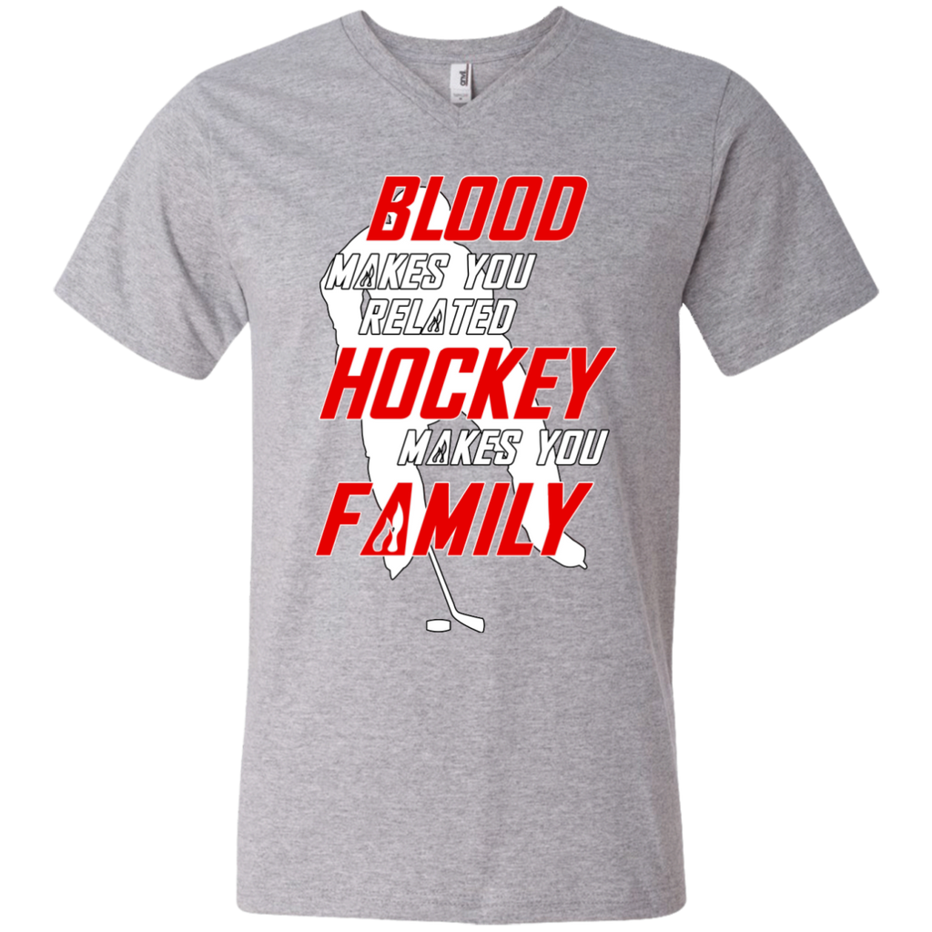 Hockey Family Men's V-Neck T-shirt