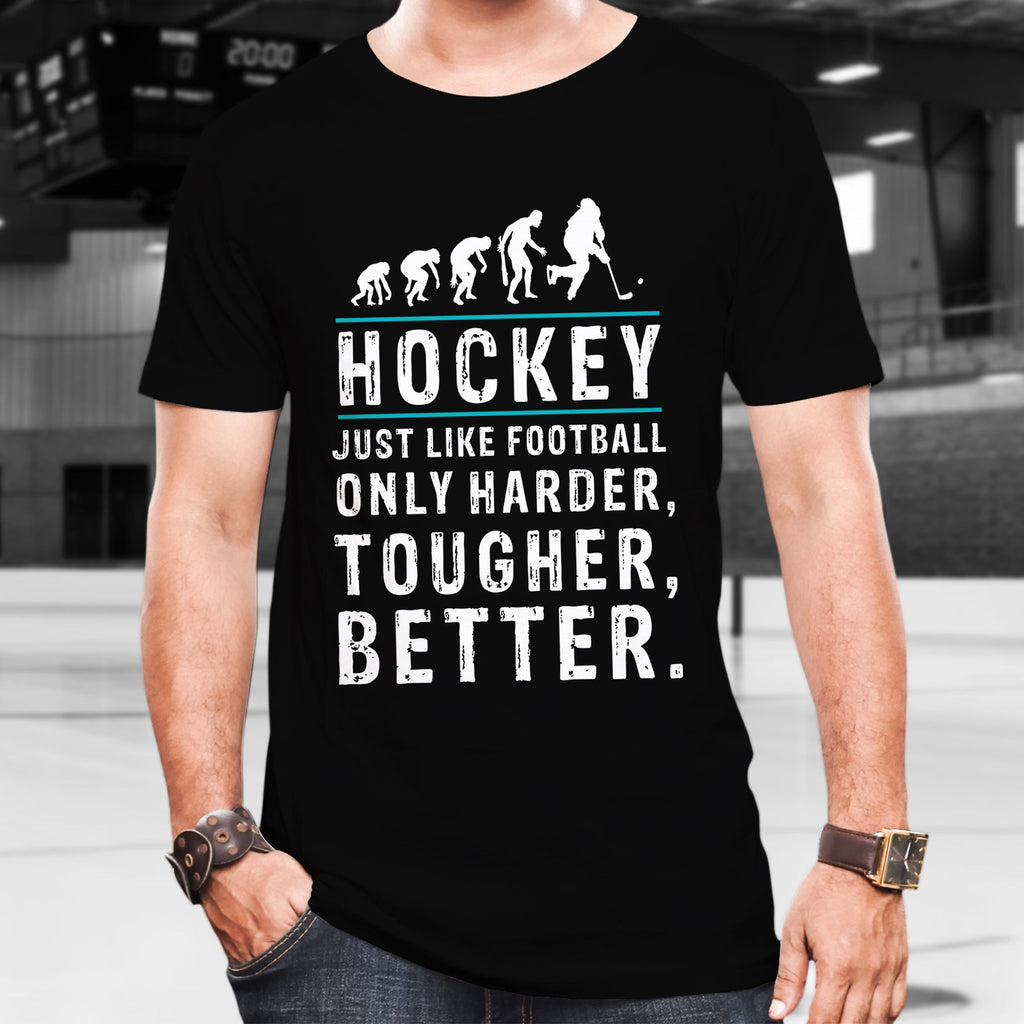 Hockey is better Cotton T-Shirt