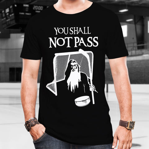 Hockey Gandalf Goalie Cotton T-Shirt