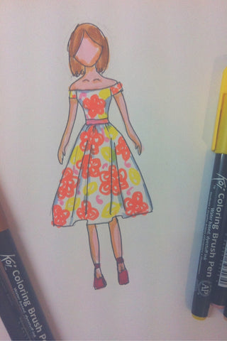 Summer dress design