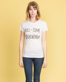 Full-time Bookworm: Short Sleeve Women's T-shirt