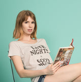 Late Nights + Good Books Tee