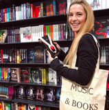 Music, Chocolate & Books Tote bag
