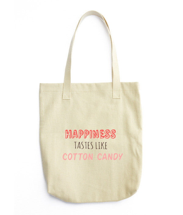 Happiness Tastes Like Cotton Candy: Tote bag