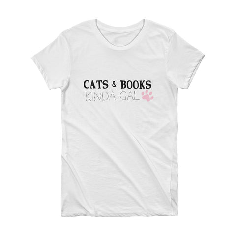 Cats & Books Kinda Gal Baseball Tee