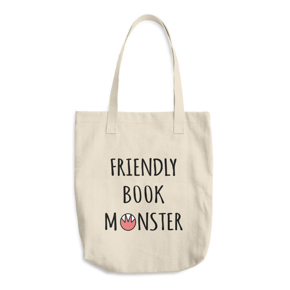 Friendly Book Monster Tote Bag