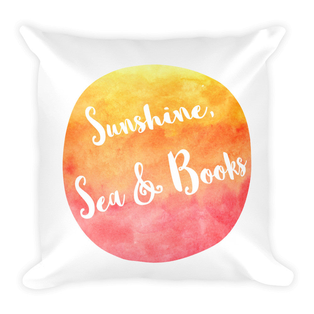 Sunshine, Sea & Books: Pillow